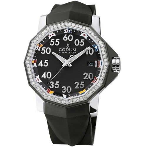 Corum Admiral's Cup Competition 40(SS-Diamonds / Black/ Rubber)