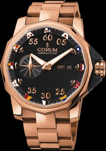 Corum Admirals Cup Competition 48 (RG / Black / Bracelet)