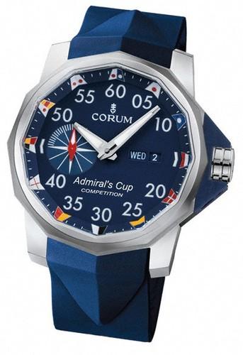 Corum Admirals Cup Competition 48 (Ti / Blue / Strap)