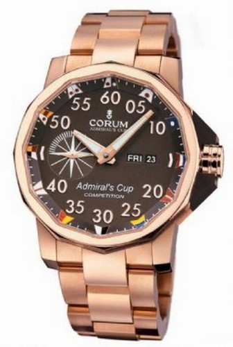 Corum Admiral's Cup Competition 48(RG / Brown / Bracelet)