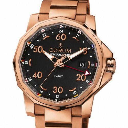 Corum Admirals Cup GMT 44 (RG /Black / Bracelet)