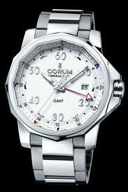 Corum Admirals Cup GMT 44 (SS / Black / Bracelet)