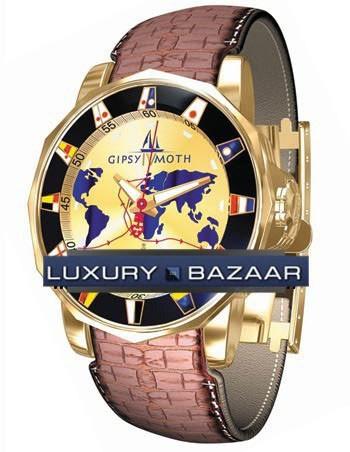 Corum Admirals Cup Gypsy Moth IV (YG / Champagne / Leather)