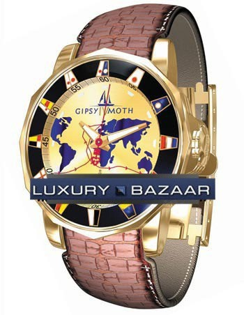 Corum Admirals Cup Gypsy Moth IV (YG / Champagne / Leather)
