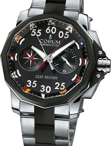Corum Admiral's Cup Leap Second 48 (Titanium / Black / Bracelet)