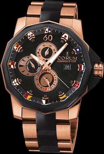 Corum Admirals Cup Tides 48 (RG / Black / RG / Rubber)