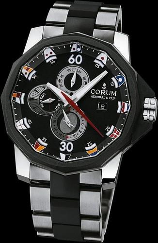Corum Admirals Cup Tides 48 (Titanium / Black / Titanium / Rubber)