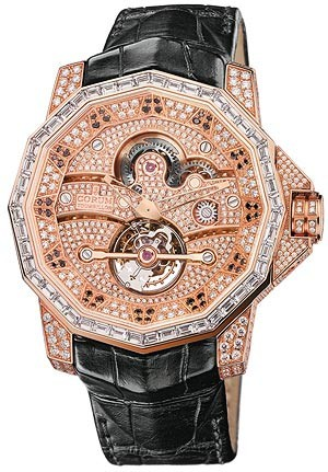 Corum Admirals Cup Tourbillon 48 (RG / RG / Diamonds / Leather)