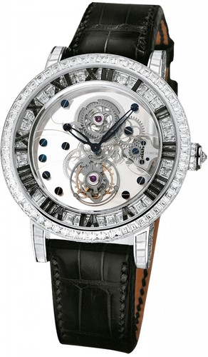 Corum Classical Billionaire Tourbillon (WG-Black Diamonds/Leather)