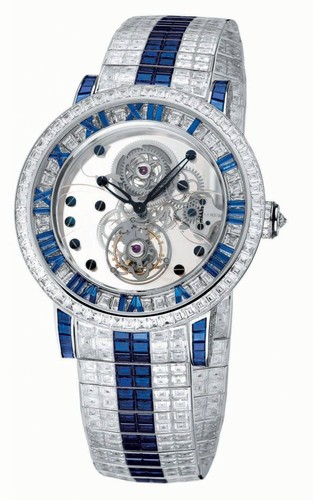 Corum Classical Billionaire Tourbillon (WG-Blue Saphires/Bracelet)