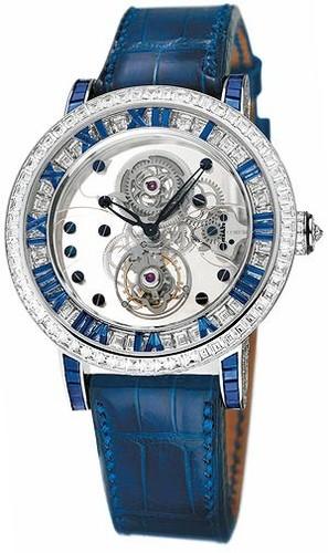 Corum Classical Billionaire Tourbillon (WG-Blue Saphires/Leather)
