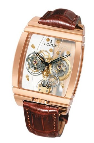 Corum Corum Golden Tourbillon Panoramique (RG/Leather)