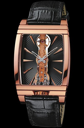 Corum Golden Bridge Black Baton (RG / Black Baton / Strap)