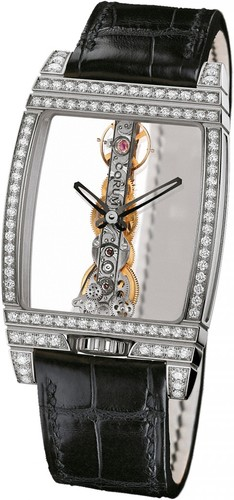 Corum Golden Bridge Diamonds (WG-Diamonds / Skeleton / Leather Strap)