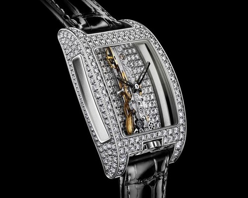 Corum Golden Bridge Full Pave (WG / Diamond Skeleton / Strap)
