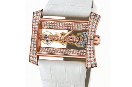 Corum Golden Bridge Lady (RG - Diamonds / White)