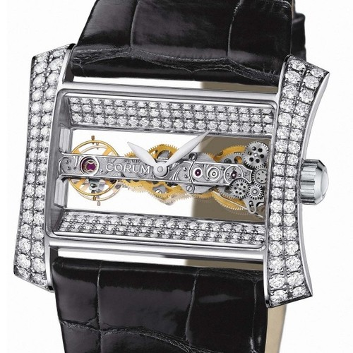 Corum Golden Bridge (WG / Silver Skeleton / Strap)