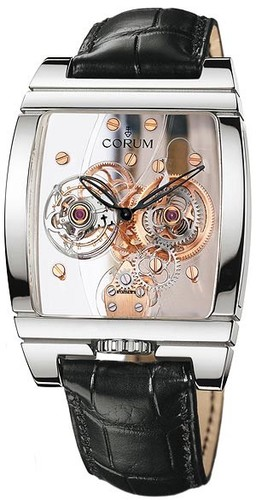 Corum Golden Panoramique Tourbillon (WG / Skeleton / Strap)