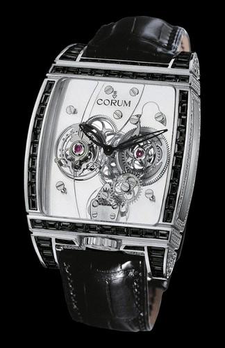 Corum Golden Tourbillon Panoramique Black Diamants 382.860.69/0F81 0000
