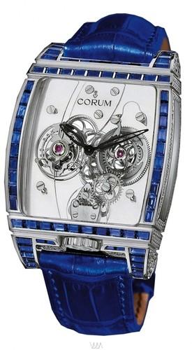 Corum Golden Tourbillon Panoramique Blue Sapphire Watch 382.853.69/0F83 0000