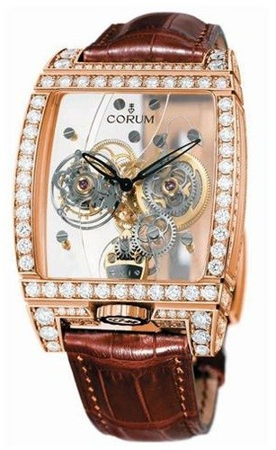 Corum Golden Tourbillon Panoramique Diamond Watch 382.851.85/0F02 0000
