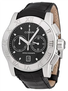 Corum Romulus Chrono (SS/black /Leather )