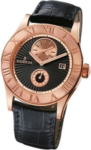 Corum Romulus Dual Time (RG / Black / Leather)