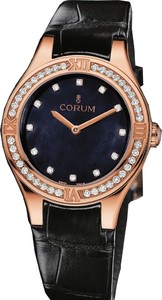 Corum Romulus Lady (RG / Black MOP / Leather)