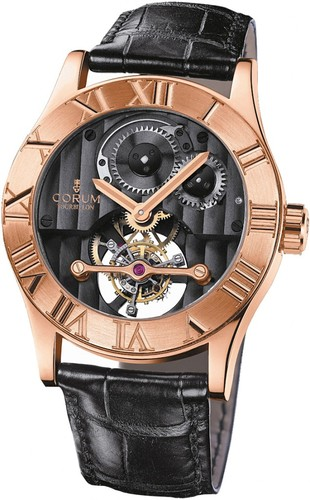 Corum Romvlvs Tourbillon (RG / Black)