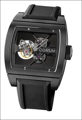 Corum Ti Bridge Tourbillon Black (Ti / Skeleton / Strap)