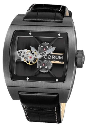 Corum Titanium Bridge Tourbillon Black 022.702.94/0F81 0000