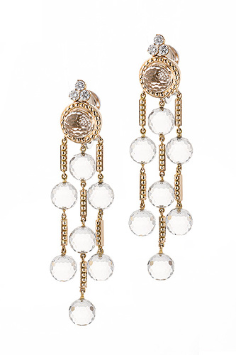Cantamessa Crystal Earrings yellow ECP 903