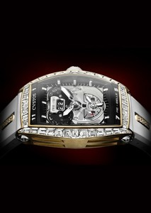 Cvstos RE-Belle Twin Time 5N and Baguette Diamonds RG-D