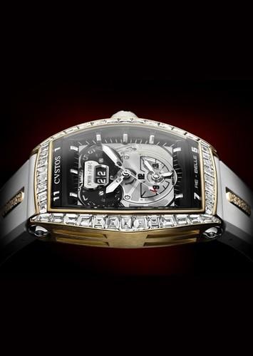 Cvstos RE-Belle Twin Time 5N and Baguette Diamonds RG-D