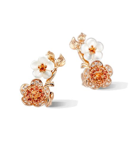 Серьги Carrera y Carrera Cerezo Mini Earrings DA14202 130422
