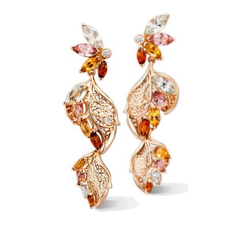 Серьги Carrera y Carrera Hoja Double Earrings DA14458 139925