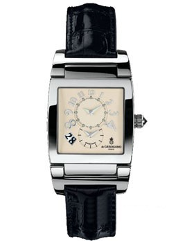 de Grisogono Uno Dual Time (Steel / Beige / Leather)