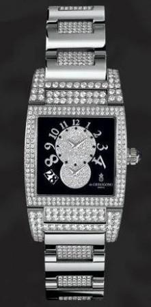 de Grisogono Uno Dual Time (WG-Diamonds / Black-White Diamonds / WG-Diamonds)