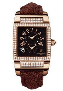 de Grisogono Uno Ladies (PG-Diamonds / Black / Cinnamon Strap)