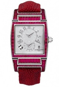 de Grisogono Uno Ladies (WG-Rubies / White / Red Strap)