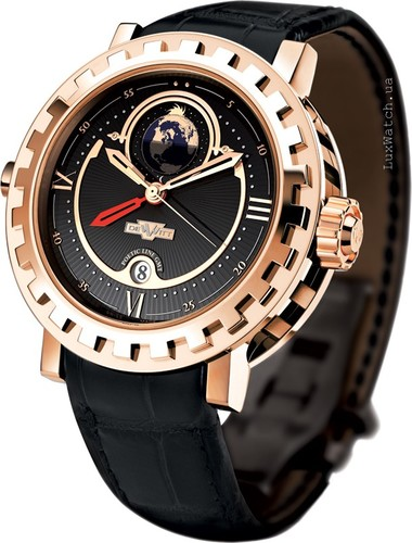 DeWitt Double Fuseau GMT2 Poetic (RG / Black) AC.2002.53.M0