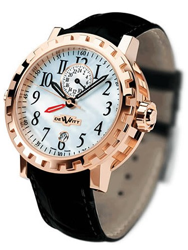 DeWitt Double Fuseu GMT II(RG / white MOP / Leather) AC.2002.53.M650