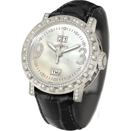 DeWitt Grande Date (WG-Diamonds / MOP) AC1501.48.102.M690.102