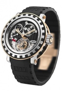 DeWitt Tourbillion Differential (Titanium-RG / Black Guilloche / Rubber) AC.8002.28A.M954