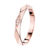 Boucheron Facette Pink Gold Wedding Band Dıamonds