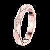 Boucheron Facette Pink Gold Wedding Band Dıamonds