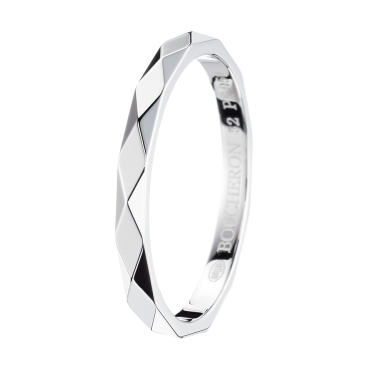 Boucheron Facette Platinum Small Wedding Band