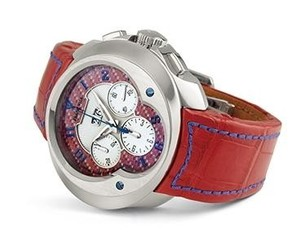 Franc Vila Franc Vila Grand Sport Chronograph Grand Dateur Automatique (WG / Red / Strap) Fva8ch