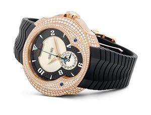 Franc Vila Franc Vila Haute Joaillerie Quantieme Automatique HJ4 with Diamonds (RG / Black / Strap) FVa7