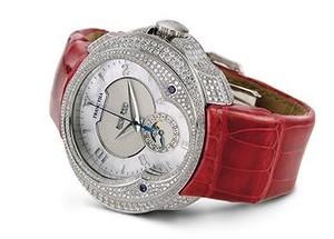 Franc Vila Franc Vila Haute Joaillerie Quantieme Automatique HJ5 with Diamonds (WG / Silver/ Strap) FVa7